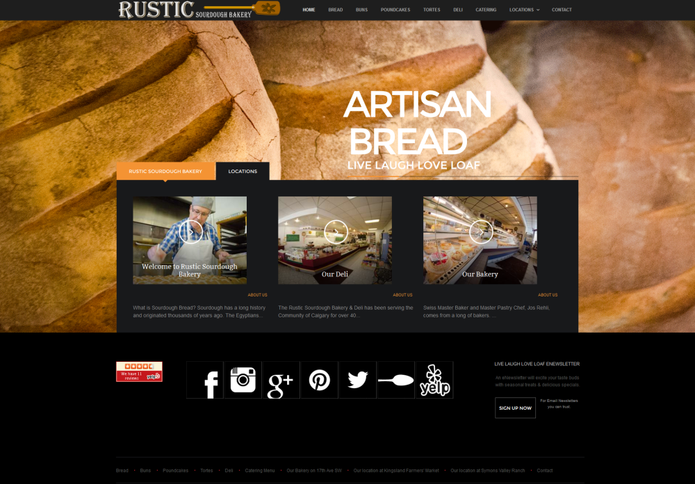 Client: Rustic Sourdough Bakery